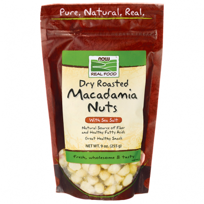 Dry Roasted Macadamia Nuts with Sea Salt