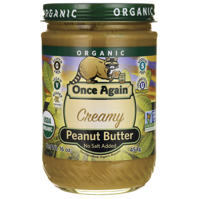 Peanut Butter,Organic Creamy No Sugar Added