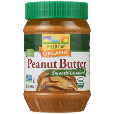Smooth Organic Peanut Butter, Unsalted