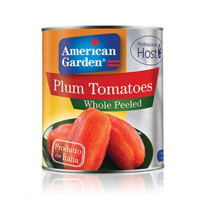 100% Natural Whole Peeled Plum Tomatoes
