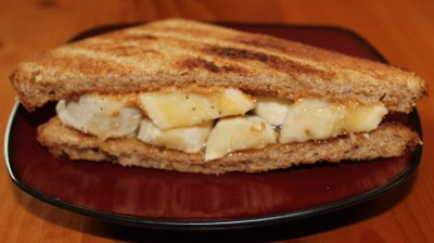 Peanut Butter & Honey Spread Sandwich on Wheat Bread