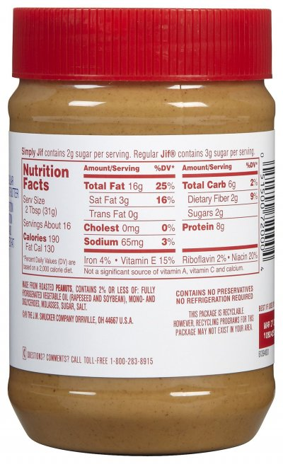 Peanut Butter, Creamy Reduced Fat to Go 1.7 Oz Cups