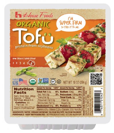 High Protein Organic Tofu, Super Firm