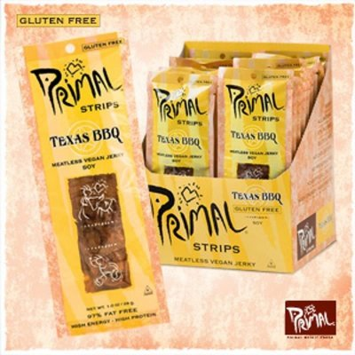 Meatless Jerky, Primal Strips, Texas Bbq