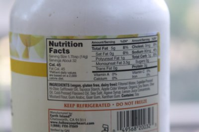 Vegenaise, Flaxseed & Olive Oil, Reduced Fat