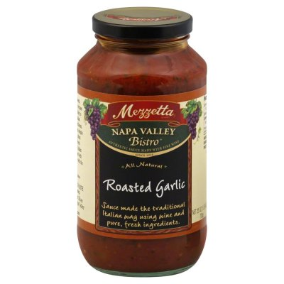 100% Natural, Sauce, Roasted Garlic Flavor