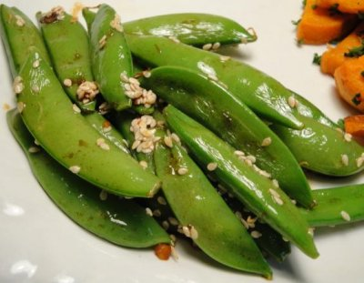 Asian Vegetables with Sugar Snap Peas