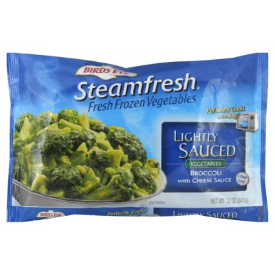Broccoli, with Cheese Sauce, Lightly Sauced