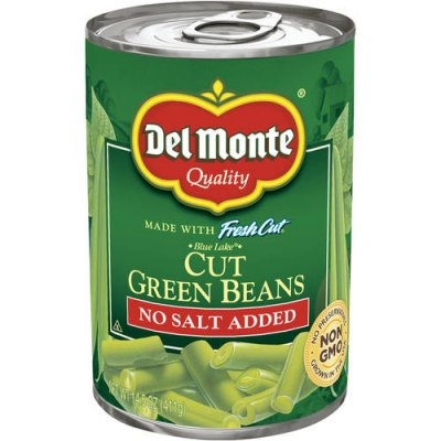 Green Beans, Cut, Blue Lake, 50% Less Salt
