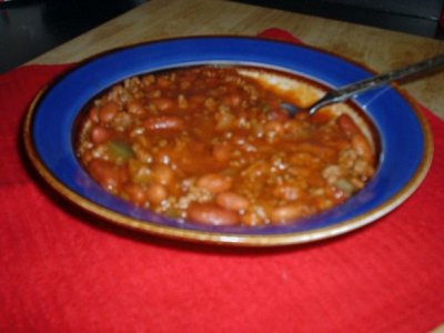 Onion, Chili, Con Carne With Beans