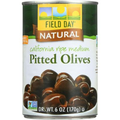 Ripe Olives, Pitted, Medium, Black