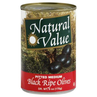 Olives, Ripe Pitted, Medium
