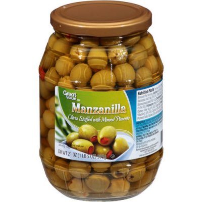 Manzanilla Olives, Pimientos & Capers, Pitted