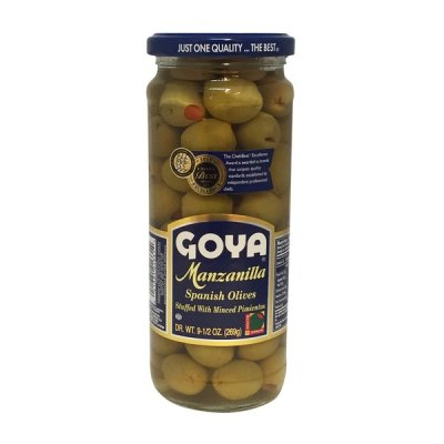 Manzanilla Spanish Olives, Stuffed with Minced Pimientos