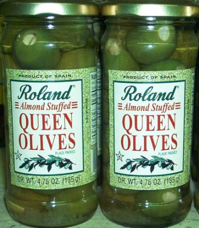Olives,Thrown Stuffed Queen