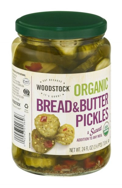 Pickles,Organic Sweet Bread & Butter Slices