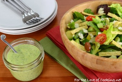 Cilantro Avocado Yogurt Dressing