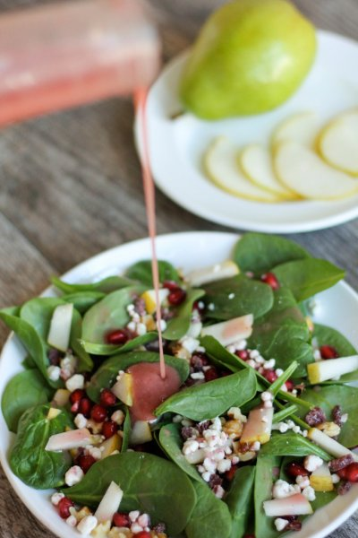 Dressing, Raspberry Pomegranate Vinaigrette
