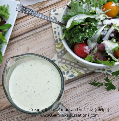 Parmesan Basil Italian Dressing, Made With Aged Parmesan Cheese