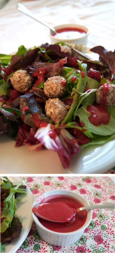 Raspberry Walnut Vinaigrette Dressing