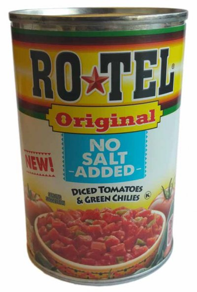 Original No Salt Added Diced Tomatoes & Green Chilies