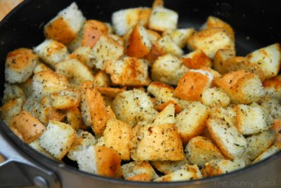 Cheese & Garlic Croutons