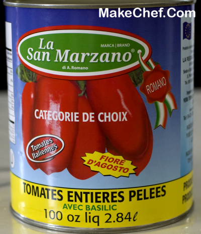 Tomatoes, Whole Peeled, San Marzano