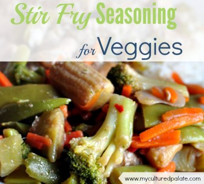 Chinese Stir-Fry Vegetables, Seasoned
