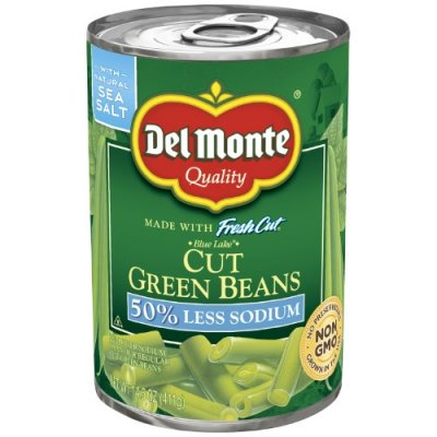 Cut Green Beans, 50% Less Sodium