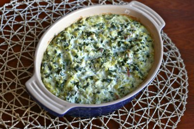 Spinach And Artichoke Parmesan Dip, Made With Greek Yogurt