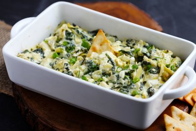Spinach Artichoke & Parmesan Greek Yogurt Dip