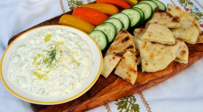 Tzatziki Cucumber Garlic  Greek Strained Yogurt Dip
