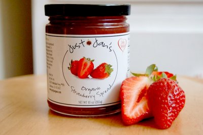 Strawberry Fruit Spread, Made With Sugar