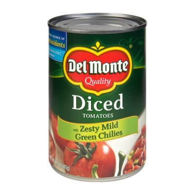 Mild Diced Tomatoes With Green Chilies, Tomatoes in Tomato Juice