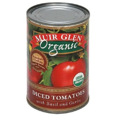 Premium Diced Tomatoes, With Basil and Garlic, Organic