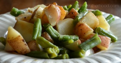 Roasted Red Potatoes, Green Beans & Rosemary Butter Sauce