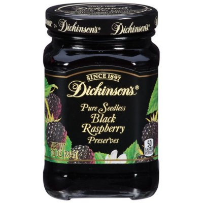 Black Raspberry Preserves, Pure Seedless