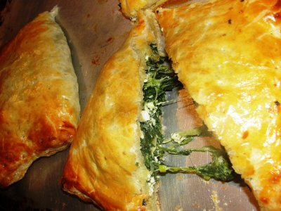 Spanakopita Filled with Spinach Ricotta and Feta Cheese