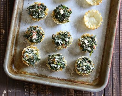 Spinach & Cheese Fillo Pies