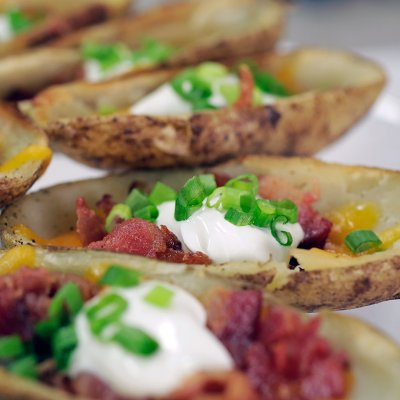 Potato Skins, Loaded! Cheddar & Bacon