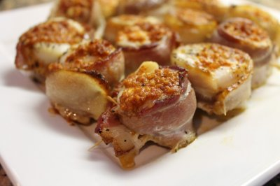 Scallops, Wrapped In Bacon