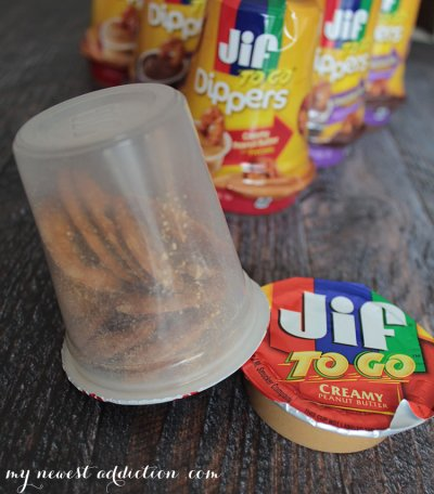 To Go Dippers, Creamy Peanut Butter With Pretzels