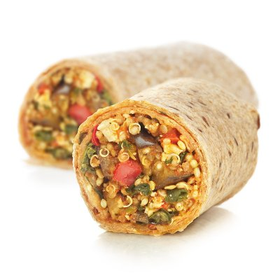 Organic Roasted Eggplant and Quinoa Burrito
