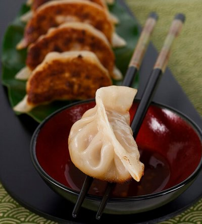 Potstickers, Chicken & Vegetable Dumplings with Sauce