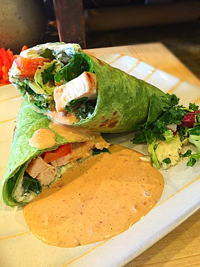Vietnamese Style Chicken Wrap with Ginger Lime Dipping Sauce