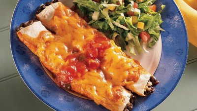 Black Bean & Cheese Enchilada