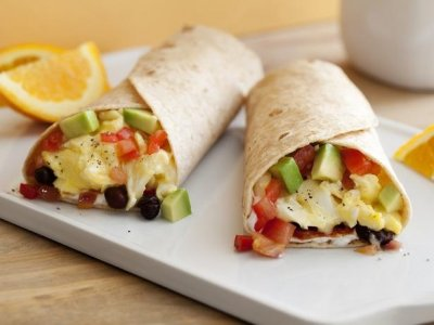 Breakfast Burrito, Made With Organic Black Beans & Tomatoes