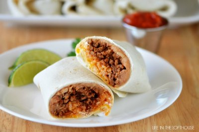 Burritos, Beef & Bean Green Chili