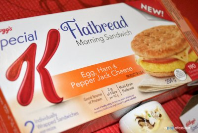 Flatbread Breakfast Sandwich (Egg With Vegetables & Pepper Jack Cheese)