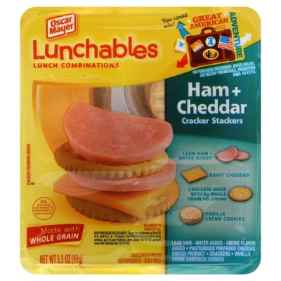 Lunch Combinations, Ham, Cheddar + Mini Ritz, Value Twin Pack